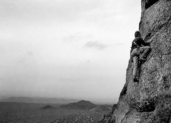 Rock Climbing Photo: Tucker Tech on something. Photo by Blitzo.