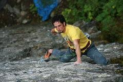 Rock Climbing Photo: Josh on So Gently We Go
