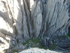 Rock Climbing Photo: Looking into the 5-6 gully from Kampsite