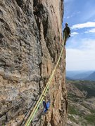 Belaying the Traverse, Ship of Fools, Rocky Mtn Nat'l Park, 2008