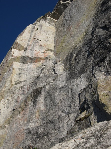 Rock Climbing Photo: The corner pitch of OZ.