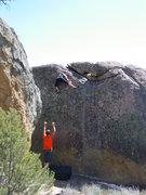 Rock Climbing Photo: Emily Otis on her highball problem