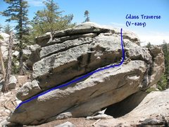 Rock Climbing Photo: Glass Traverse (V-easy), Tramway