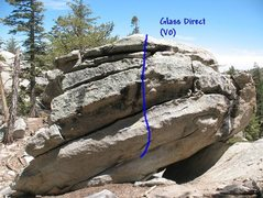 Rock Climbing Photo: Glass Direct (V0), Tramway