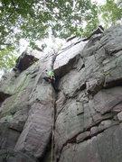 Rock Climbing Photo: Vince into the hard stuff.