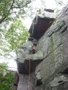 Rock Climbing Photo: Vince, notice the healthy run out!