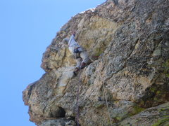 Rock Climbing Photo: Jimbo drilling overhead on the steepest section of...