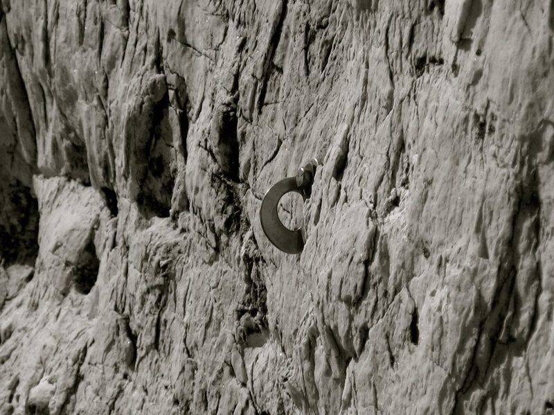 Rock Climbing Photo: The starting bolt for Mon Ami.  Pretty Rock here