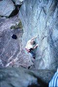 Rock Climbing Photo: Dave starting up Drosophilia