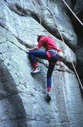 Rock Climbing Photo: Adrian on Drosophilia