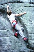 Rock Climbing Photo: Dave in the Banana
