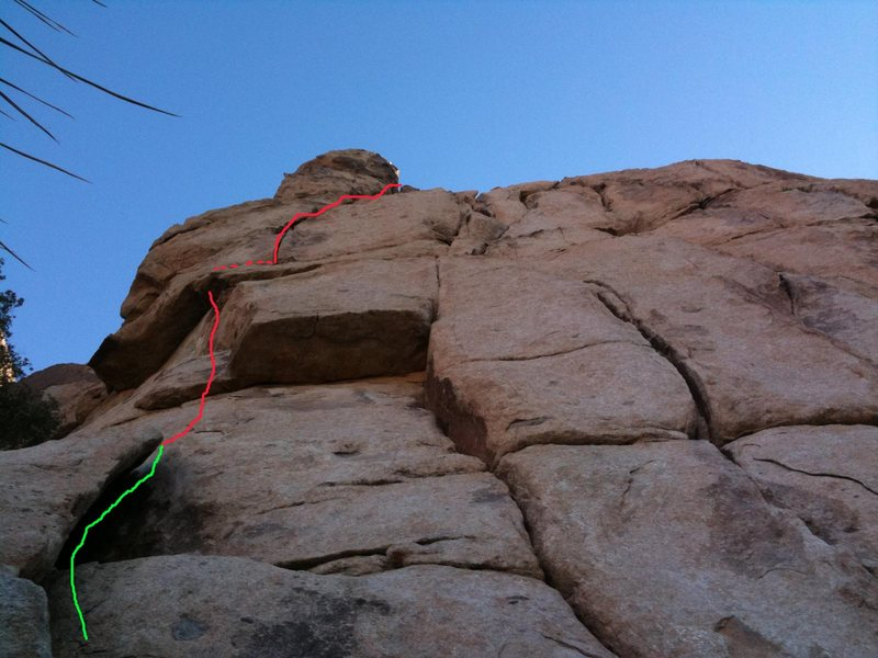 Rock Climbing Photo: Red line follows this particular poodle. Can be a ...
