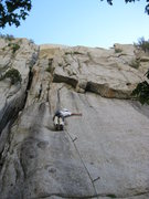 Rock Climbing Photo: Last good stance before the route starts getting h...