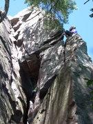 Rock Climbing Photo: Vinny at the last pro.
