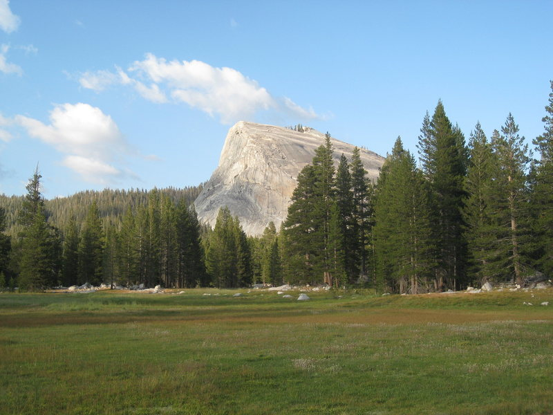 The west face as seen from the meadow across from the store.