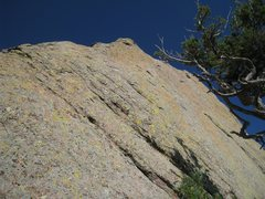 Rock Climbing Photo: Looking up from the P2 belay.