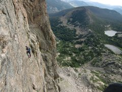 Rock Climbing Photo: Matt Cohen follows our pitch 3. Wildly exposed 5.8...