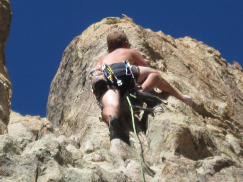 Rock Climbing Photo: Boxer brief lead.