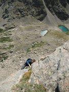Rock Climbing Photo: Matt Cohen finishing the crux splitter at the end ...