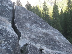 Rock Climbing Photo: This is what the top of the Penthouse Cracks looks...