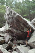 Rock Climbing Photo: The Jewel Boulder.  RV in there for perspective.  ...