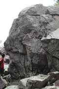 Rock Climbing Photo: Just around the corner from the Jewel.  Tall bould...