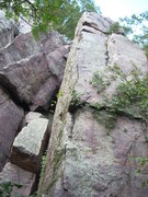 Rock Climbing Photo: This corner is 5.5. Start on the south side.