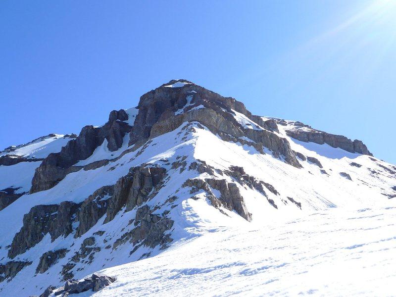 Rock step on Everest Ridge