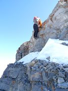 Rock Climbing Photo: Up the rock step on Everest Ridge