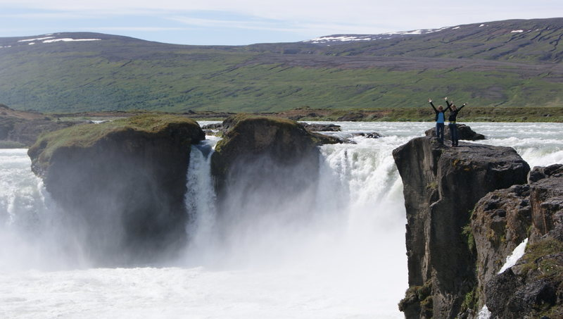 Godafoss in Northern Iceland<br> One of the many many waterfalls to enjoy...