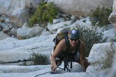 Rock Climbing Photo: Agina coming up pitch one.