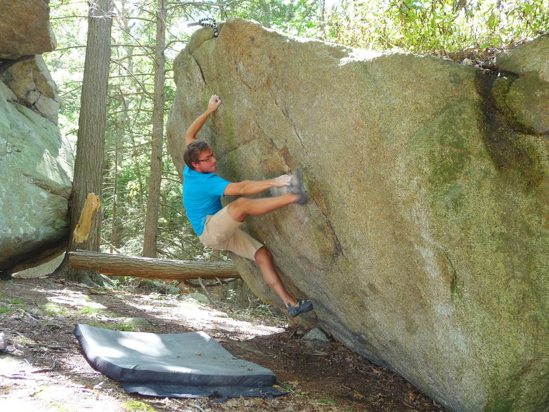 Rock Climbing Photo: Me, mid-crux.