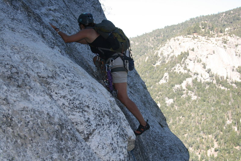 Rock Climbing Photo: Agina thru and into the crack above.