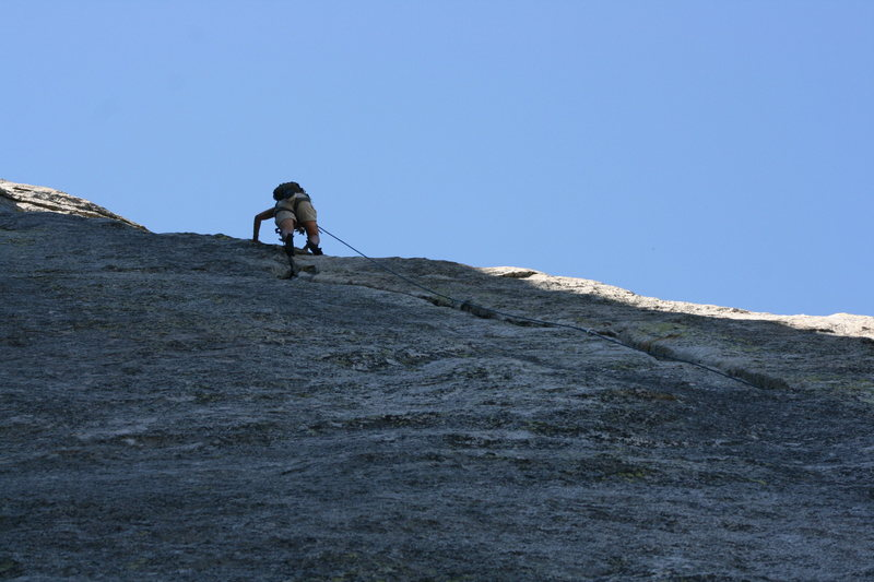 Agina getting to the top of pitch two.
