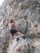 Rock Climbing Photo: leaning.....