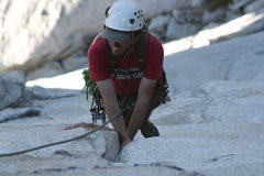 Rock Climbing Photo: Nathan taking a break on some sweet jams on pitch ...
