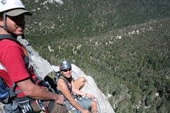 Rock Climbing Photo: Nathan and Agina at the pitch two belay.