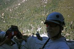 Rock Climbing Photo: Pitch three belay.