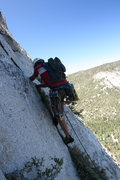 Rock Climbing Photo: Nathan starting up pitch four. Nathan led 4 of the...