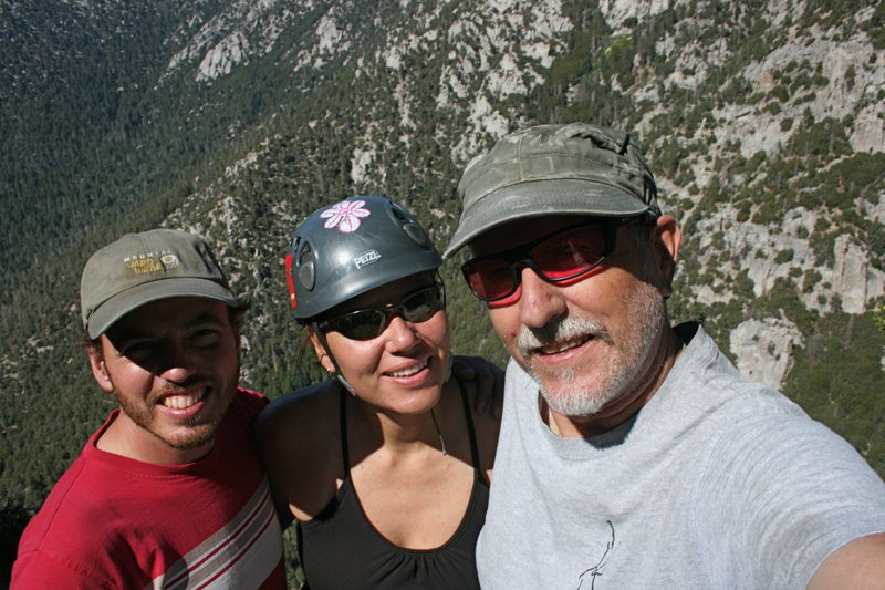 Summit photo after another fun Team Pinto climb. Nathan, Agina and Bill.