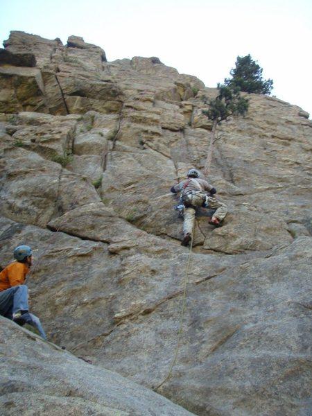 Rock Climbing Photo: Me doing a mock lead up Ho Hum, August 2010.