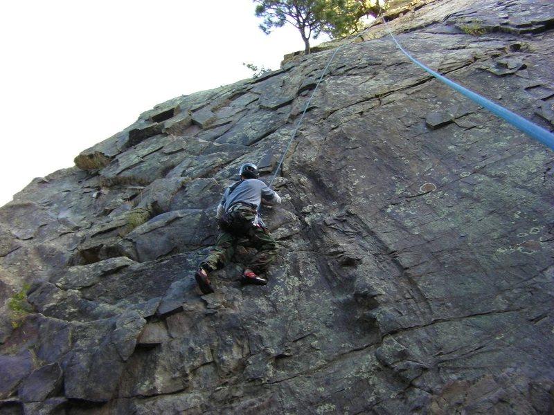 Rock Climbing Photo: Me climbing Elmer Fud Wok, Aug 29, 2010