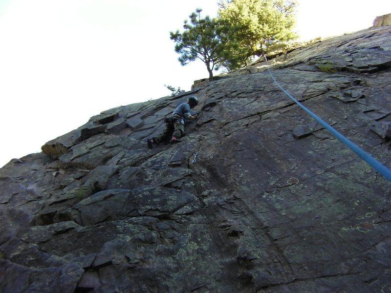 Me climbing Elmer Fud Wok, Aug 29, 2010