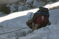 Rock Climbing Photo: Nathan Fitzhugh coming up pitch two.