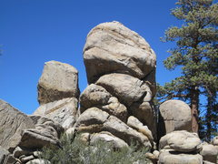 Rock Climbing Photo: Wibur's on the left and Moonshine on the right, ta...