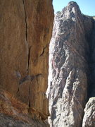 Rock Climbing Photo: The Lightning Bolt Crack, Black Canyon, 2008