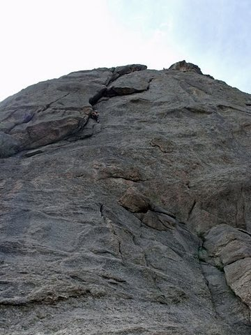 Rock Climbing Photo: Don and Janice on nice dihedral, The Overleaf 5.8,...