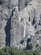 Rock Climbing Photo: Telephoto of unknown climber on route; from 3 mile...
