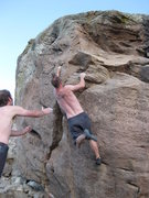 Rock Climbing Photo: Beach Crack(V3)