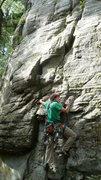 Rock Climbing Photo: John starting Chucklehead.   Photo by: Jen Sjoberg